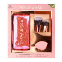 Brushworks 'Travel Brush & Sponge' Make-up Set - 4 Units