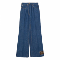 Gucci Women's 'Logo Label Flared' Jeans