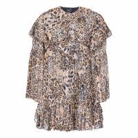 Pinko Robe à manches longues 'Leopard Ruffled' pour Femmes
