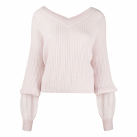 Pinko Pull-over 'Layered-Sleeve Ribbed' pour Femmes