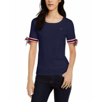 Tommy Hilfiger Women's 'Tie-Sleeve' T-Shirt