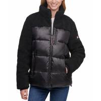 Tommy Hilfiger Women's 'Fleece-Detail' Puffer Coat