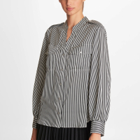 Karl Lagerfeld Women's 'Splitneck Printed' Blouse