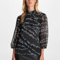 Karl Lagerfeld Women's 'High Neck Printed' Blouse