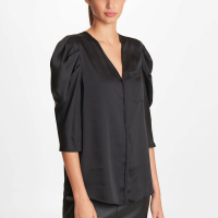 Karl Lagerfeld Women's 'Puffed' Short sleeve Blouse