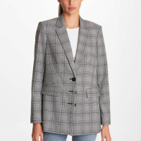 Karl Lagerfeld Women's '3 Button Plaid' Blazer