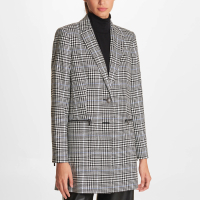 Karl Lagerfeld Women's 'Plaid Topper' Jacket