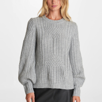 Karl Lagerfeld Women's 'Cable Knit Puff Shoulder' Sweater