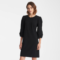 Karl Lagerfeld Women's 'Applique' 3/4 Sleeved Dress