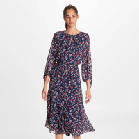 Karl Lagerfeld Women's 'Printed Ruffle' Midi Dress