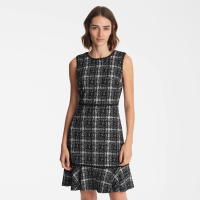Karl Lagerfeld Women's 'Knit Tweed' Sleeveless Dress