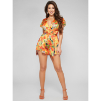 Guess Women's 'Summer Floral Tie' Romper