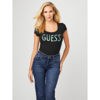 Guess Women's 'Terez Sequin Logo' T-Shirt