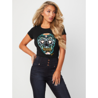 Guess Women's 'Calaca Graphic' T-Shirt