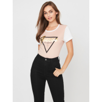 Guess Women's 'Lizzy Color-Block Logo' T-Shirt