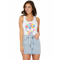 Guess Women's 'Mandy Floral Skull' Tank Top