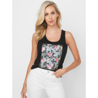 Guess Women's 'Bruna Puzzle Graphic' Tank Top