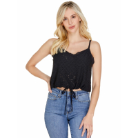 Guess Women's 'Cole Eyelet' Crop top