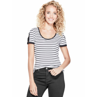 Guess Women's 'Nico Striped Cutout' T-Shirt