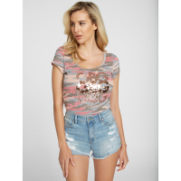 Guess Women's 'Amanda Sequin Logo' T-Shirt