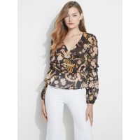 Guess Women's 'Eco Azell Ruffled' Long sleeve top