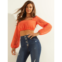 Guess Women's 'Nora Long-Sleeve' Crop top