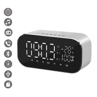 La Coque Francaise '3D Multifunction' Alarm clock for Universal - Silver