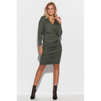 Makadamia Women's 'Surplice' Long-Sleeved Dress