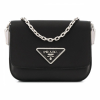 Prada Women's 'Logo-Plaque Chain-Strap' Shoulder Bag