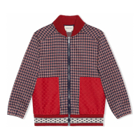 Gucci Big Boy's 'Houndstooth' Bomber Jacket