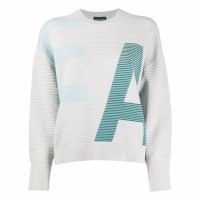 Emporio Armani Pull-over 'Ribbed Logo' pour Femmes