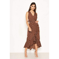 AX Paris 'Polka Dot' Wickelkleid für Damen