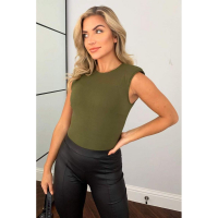 AX Paris 'Basic Padded Shoulder' Ärmelloser Bodysuit für Damen