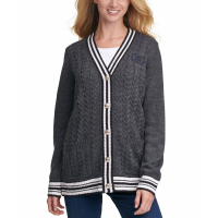 Tommy Hilfiger Women's 'Contrast-Trim Button-Front' Cardigan