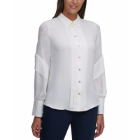 Tommy Hilfiger Women's 'Pleated-Trim' Shirt