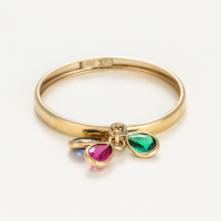 By Colette Women's '3 Pierres De Couleurs' Ring