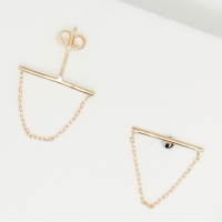 By Colette Women's 'Chaîne Triangle' Earrings