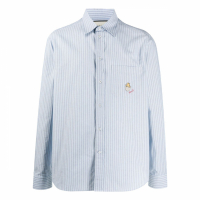 Gucci Chemise 'Embroidered Logo Patch Pinstripe' pour Hommes