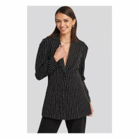 NA-KD Classic Blazer 'Pinstriped Puff Shoulder' pour Femmes