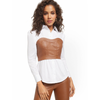 New York & Company Women's 'Bustier Button Down' Twofer