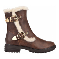 GBG Los Angeles Women's 'Garit Lug Sole Furry' Booties