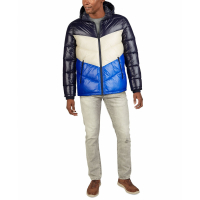 Guess Men's 'Chevron High Shine' Quilted Jacket