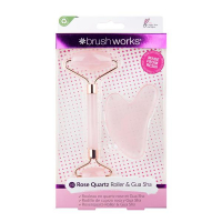Brushworks 'Rose Quartz Resin' Gua Sha, Skin Roller