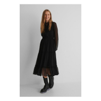 NA-KD Boho Women's 'Frill Neck' Midi Dress