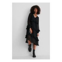NA-KD Boho Women's 'Frill Flowy V-Neck' Dress