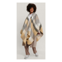 NA-KD Accessories Poncho 'Oversize Checkered' pour Femmes