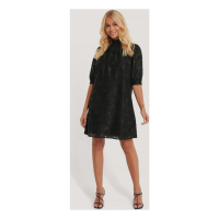 NA-KD Party Women's 'Shirred High Neck Flower' Dress