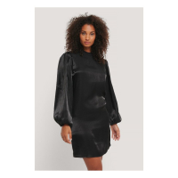 NA-KD Party Women's 'High Neck Shiny' Dress