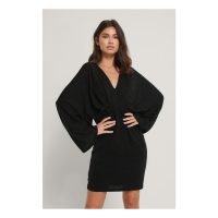 NA-KD Party Women's 'Batwing Glitter' Mini Dress
