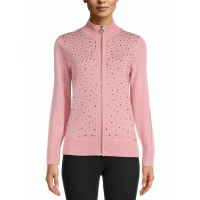 Anne Klein Pull-over 'Jeweled Zipper' pour Femmes